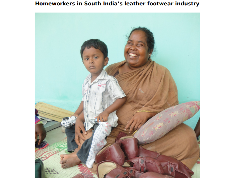 Homeworkers in South India's leather footwear industry.