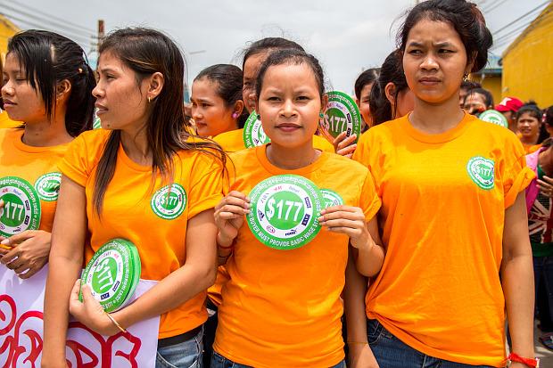 La CRL apoya a las trabajadoras de Camboya en su lucha por un salario de 177 dólares