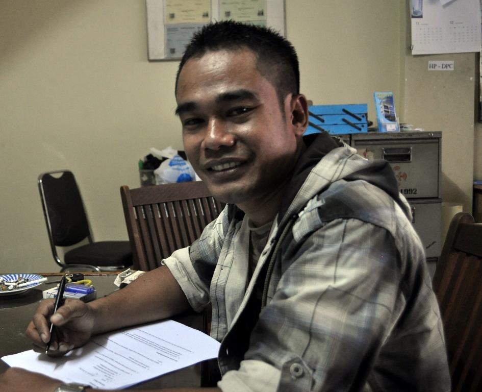 Carta de un trabajador de PT Kizone (Indonesia)