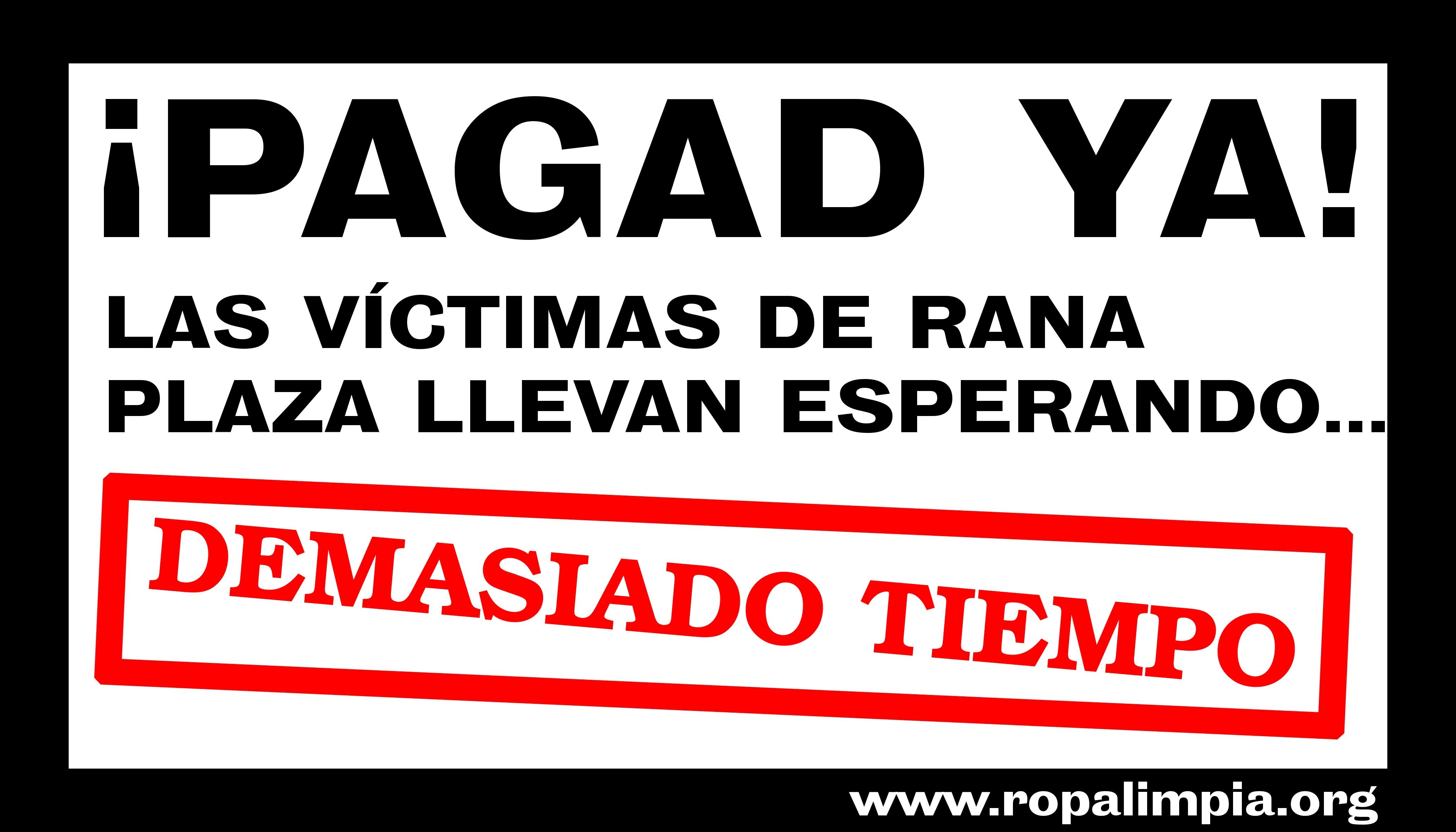 Lanzamiento campaña ¡PAGAD YA!