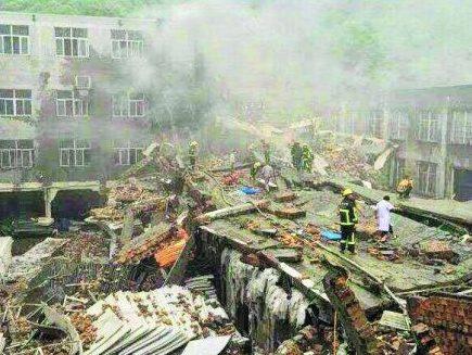 El derrumbe de la fábrica de zapatos Jieyu (China) se lleva la vida de 14 personas y deja a más de 30 heridas