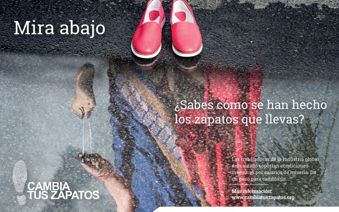 La nueva campaña 'Cambia Tus Zapatos' reivindica los derechos laborales en la industria del calzado