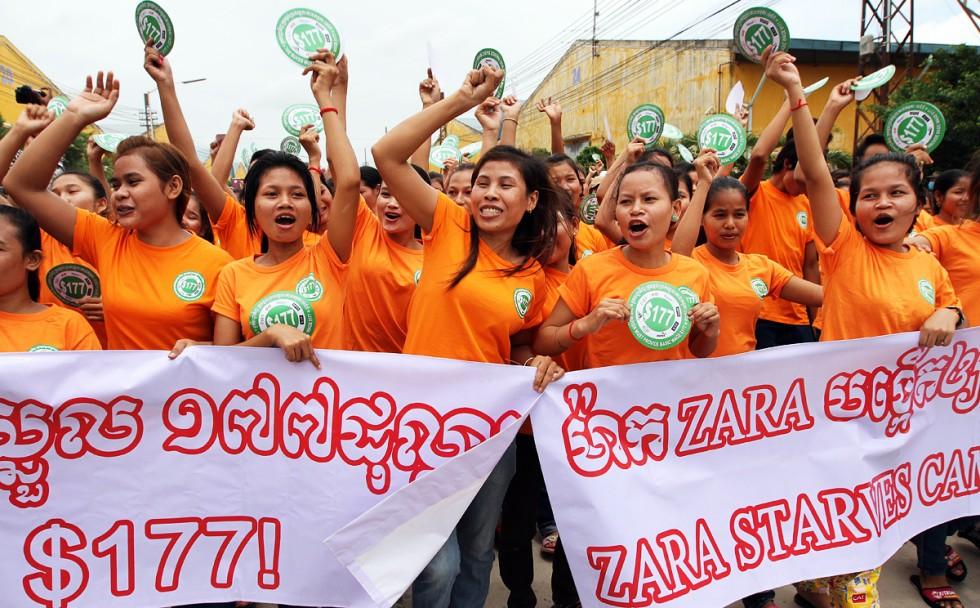 Día de acciones a nivel global para reivindicar un salario de 177$ en Camboya