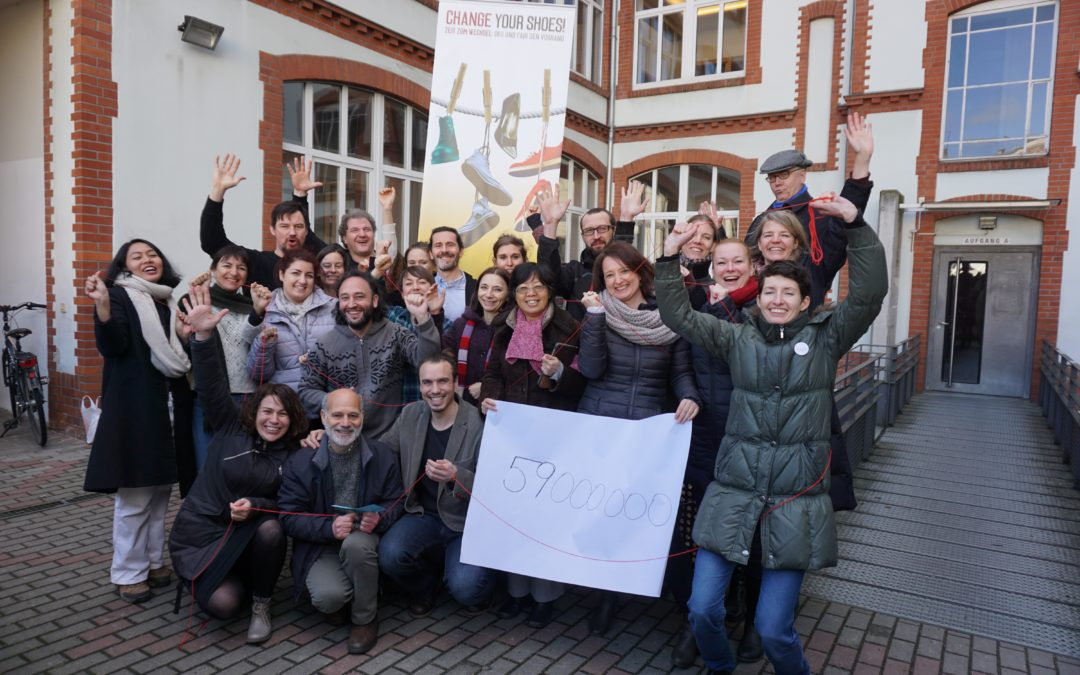 La Marcha Virtual de 'Cambia Tus Zapatos' ya ha llegado a Bruselas