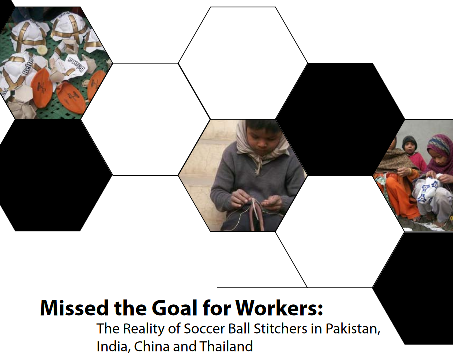 """MISSED THE GOAL FOR WORKERS: THE REALITY OF SOCCER BALL STITCHERS"""