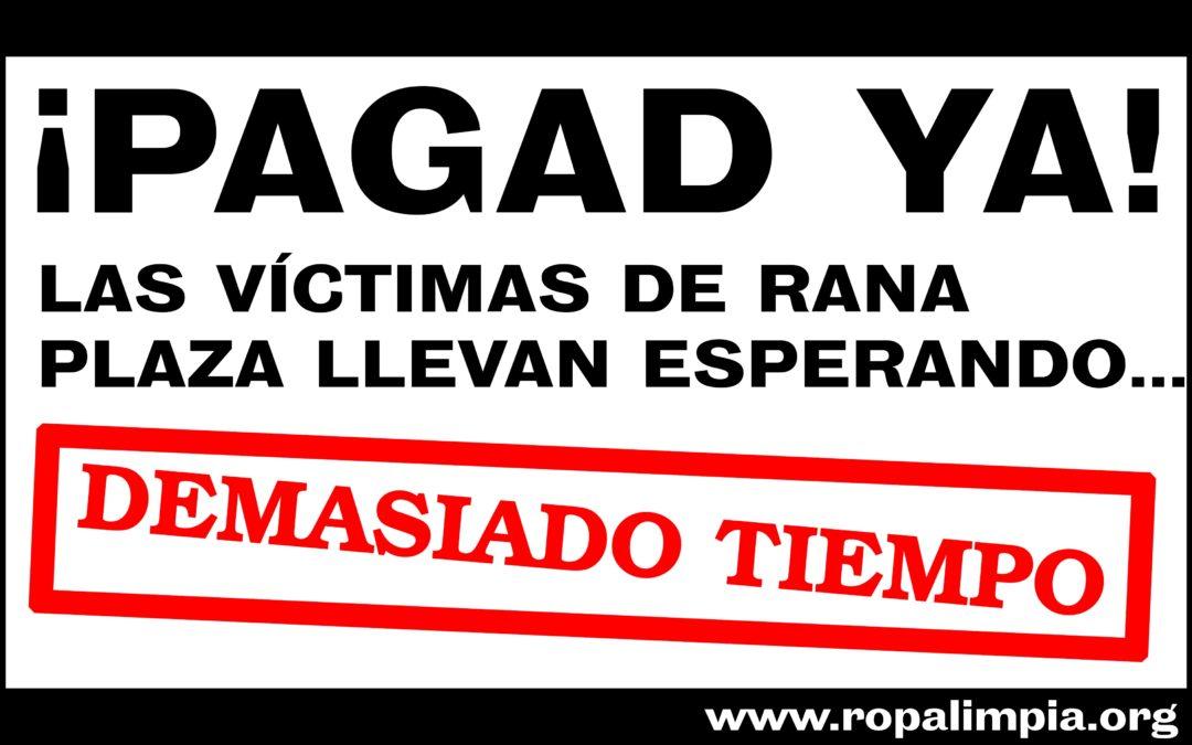 Las marcas no han aportado ni la mitad del fondo para las víctimas del Rana Plaza