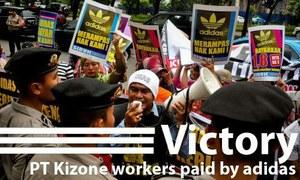 ¡GANAMOS!, Adidas paga lo que debe en Indonesia