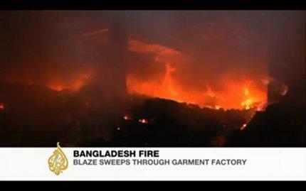 Incendio en una fábrica de ropa de Bangladesh causa 120 muertos. Las marcas acusadas de negligencia criminal.