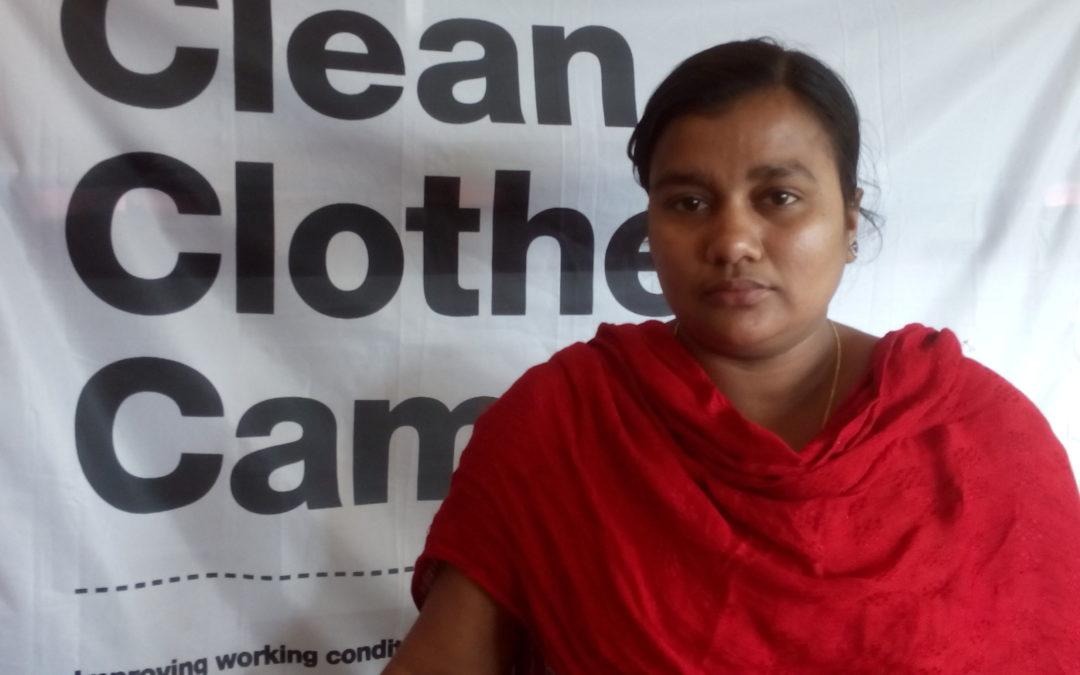 Víctima de Rana Plaza y sindicalista de NGWF visitan Europa para reclamar justicia