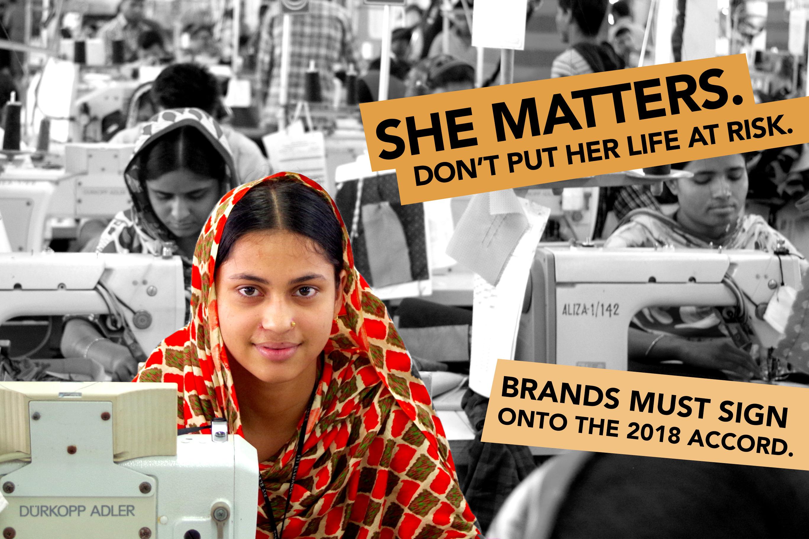 Iniciamos una semana de acciones para reclamar a las marcas que firmen el Acuerdo de Bangladesh 2018