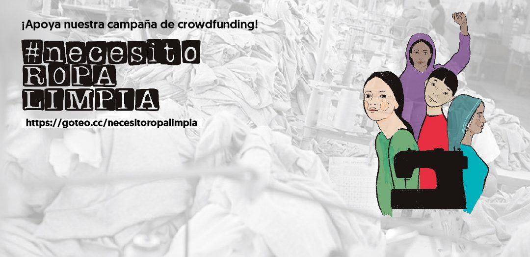¡Colabora con nuestro crowdfunding #NecesitoRopaLimpia!
