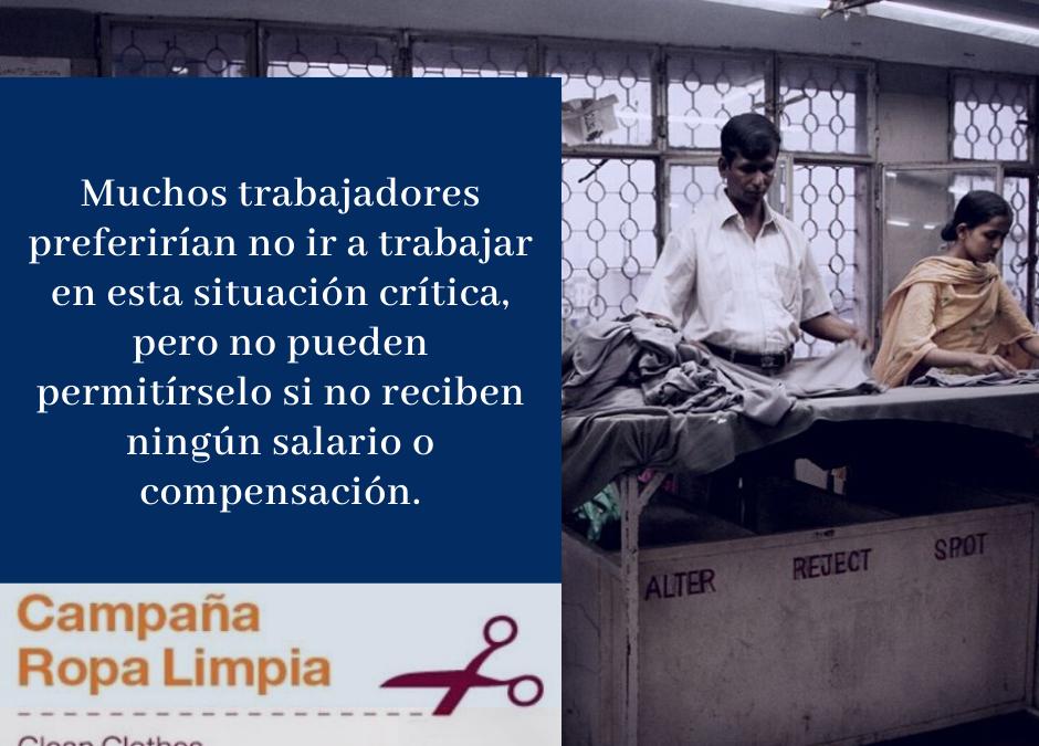 El COVID-19 continúa devastando la salud y los medios de vida de las personas trabajadoras del textil