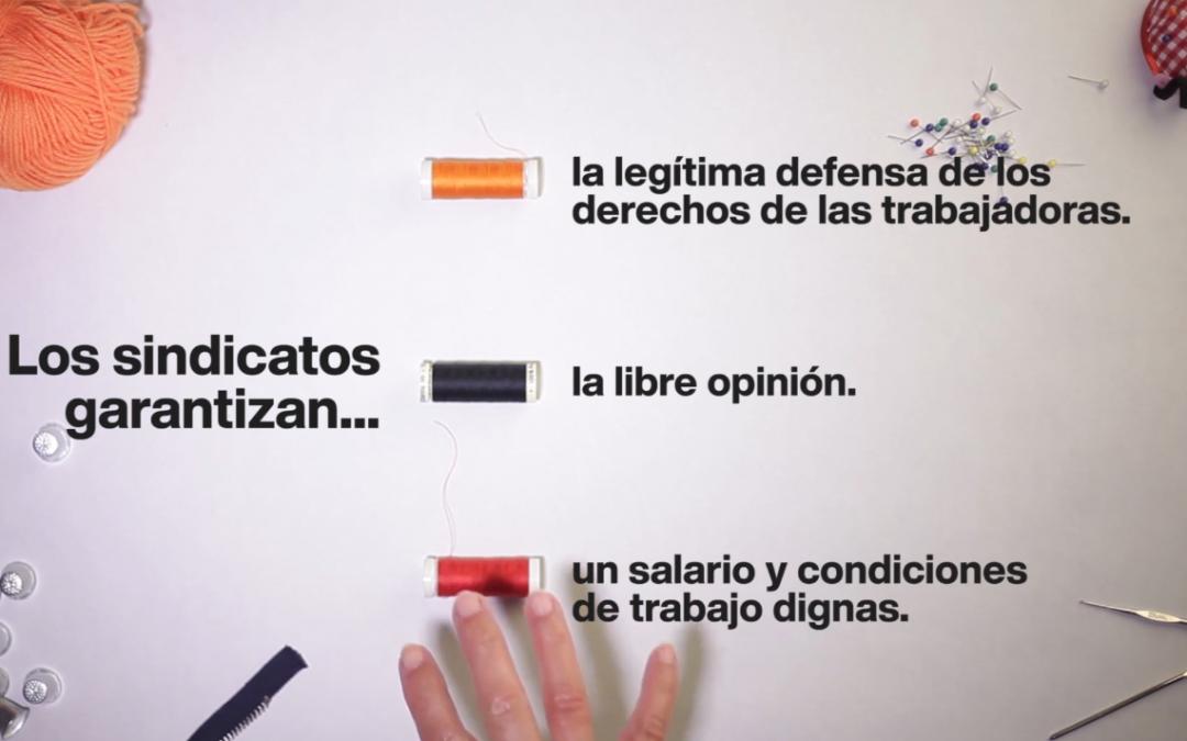 1 de mayo. Reivindicamos el derecho a la libre sindicalización de las trabajadoras de la industria de la confección