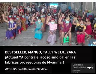 despidos de trabajadoras sindicalizadas de Mango Zara Bestseller Tally Weijl Balala