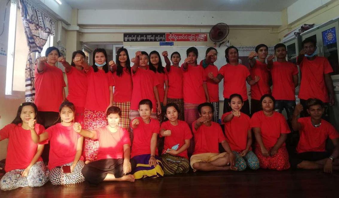 Victoria sindical en la fábrica Huabo Times en Myanmar