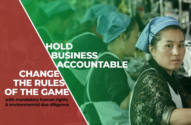 Pedimos a la UE una ley que exija a las empresas el respeto a los Derechos Humanos y al medio ambiente