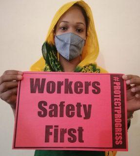 La seguridad de los trabajadores es lo primero