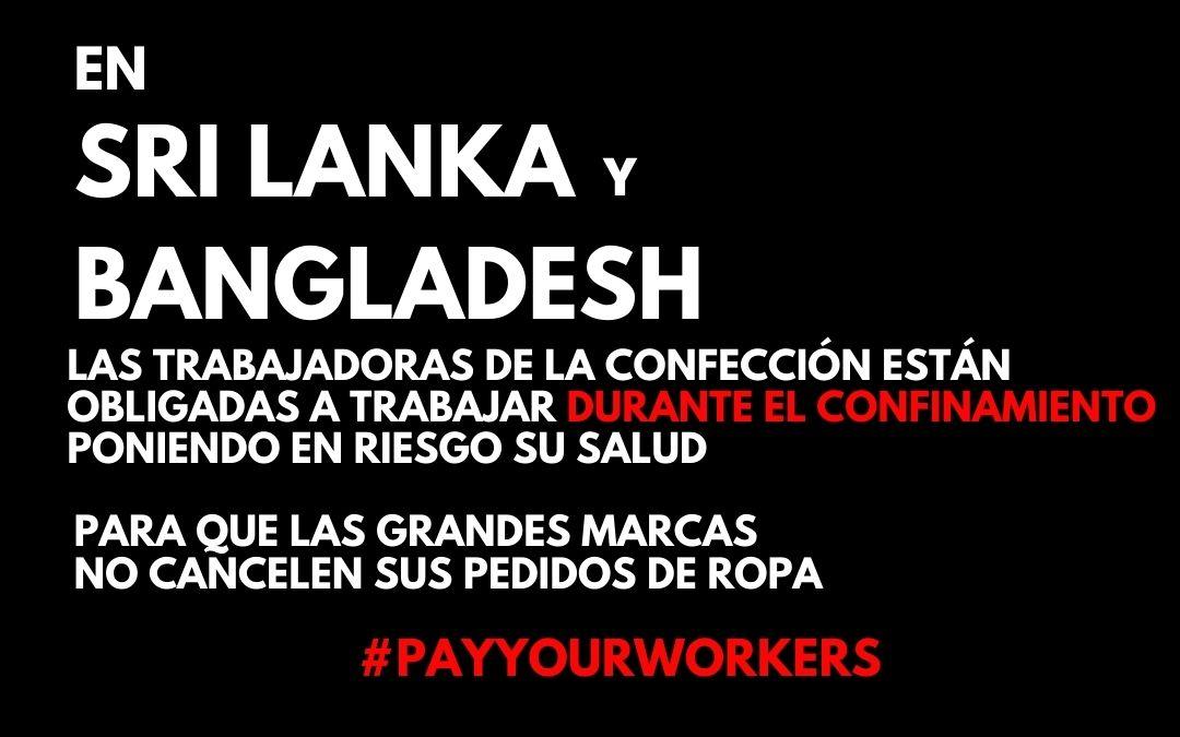 Bangladesh, Sri Lanka: ¡proteged la salud de las trabajadoras de la confección!